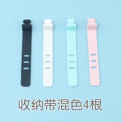 4 шт. устройство для сматывания кабеля простой круглый зажим USB зарядное устройство Настольный аккуратный органайзер для проводов шнур для настольного кабеля фиксированный - Цвет: Style 3