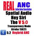 V5.0 Гибридный ANC наушники-вкладыши TWS с наушники активное Шум шумоподавления Hey Siri пространственный звук металлическое шарнирное крепление Б...