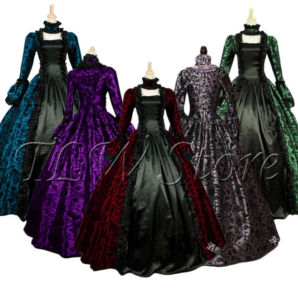 プラス 5xl コスプレ中世宮殿プリンセスドレス大人ヴィンテージのイブニングなパーティーハロウィン衣装