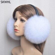 New Luxury Women Winter Warm Real Fox Fur Earmuffs Fashion Lady 100% Natural Fox Fur Ear Muffs Thermal Girl Real Fox Fur Earmuff