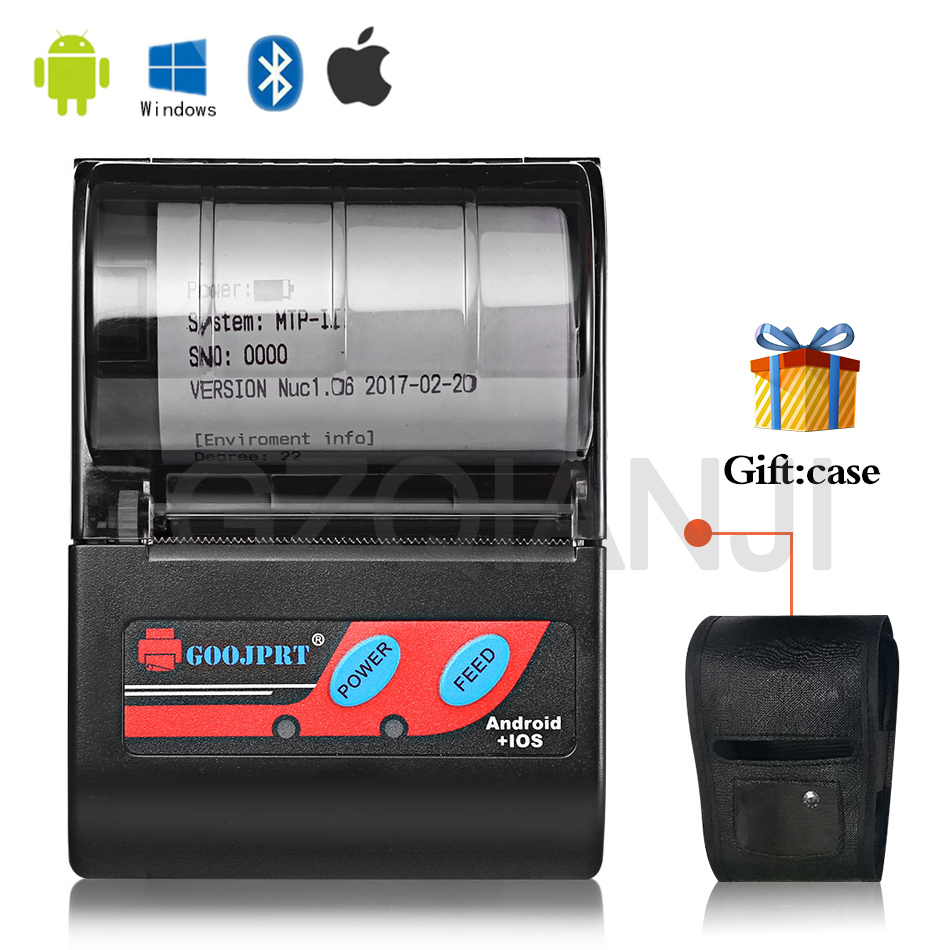 58mm 2 Inch Bluetooth Thermal Printer MTP-II Pocket Protable Mini Wireless Printer For Android Phone Windows Free App Loyverse