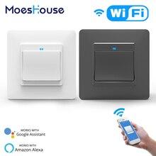 WiFi DE EU Smart Push Button Switch 2-Way Multi-control 1/2/3 Gang  Detachable Smart Life Tuya App Work with Alexa Google Home