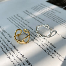 LouLeur Simple 925 Sterling Silver Ring 18K Gold Weave Twist Rings For Women Luxury Ring 2021 Trend Silver 925 Jewelry Design