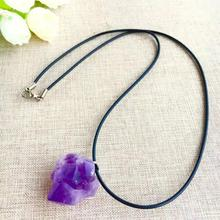 Natural amethyst stone pendant small wholesale original ecology of the
