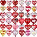 10 шт./лот 18 дюймов в форме сердца воздушные шары для свадьбы День Святого Валентина дней я люблю тебя алюминиевой фольги Гелий globos Свадебные ...