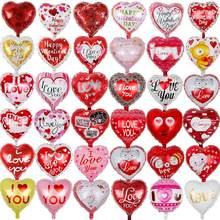 10 pçs/lote 18 polegadas coração casamento Dia Dos Namorados eu te amo balões de hélio folha de Alumínio decoração de casamento globos globos