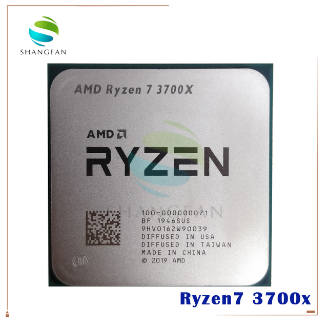 AMD Ryzen 7 3700X R7 3700X 3.6 GHz 7NM L3 = 32M 100 000000071 ثماني النواة سينتين الموضوع معالج وحدة المعالجة المركزية المقبس AM4