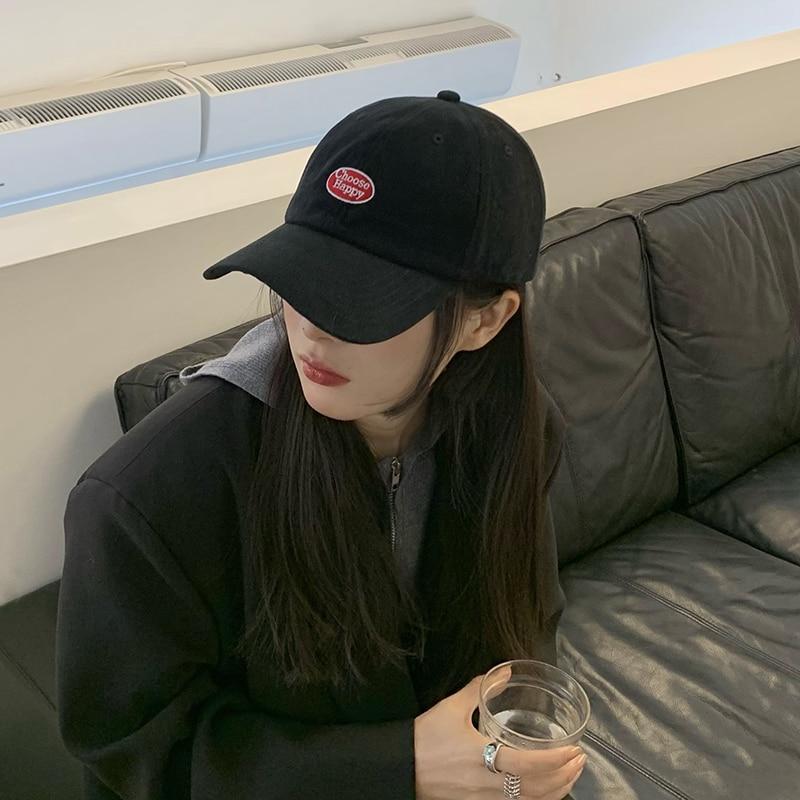 Кепка Женская в Корейском стиле, модная брендовая бейсболка с вышивкой и надписью, модная черная Студенческая шапка, весна-лето