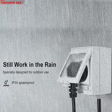 Sonoff S55 wifiスマートソケット、IP55 用防水スマートプラグコンセントタイマースイッチと互換性alexa googleホーム