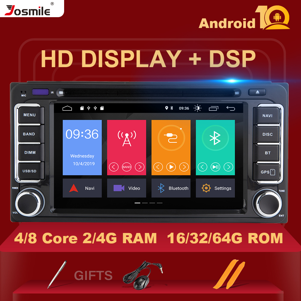 8 core IPS DSP 2din Android 10 Car Radio Multimedia For Toyota Land Cruiser <font><b>100</b></font> <font><b>200</b></font> Prado 120 150 Rush Corolla Hiace Yaris Hilux image