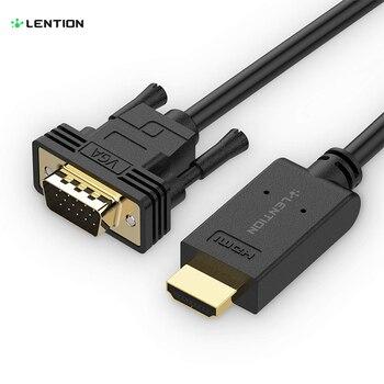 HDMI to VGA Video Cable Adapter, 1080P HDMI Digital AV to VGA Analog Converter Cable for Raspberry Pi, Chromebook, Roku, Laptop проектор other 1200lumens hdmi av usb vga uc30