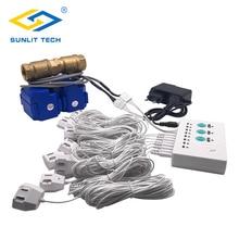 купить Water Leakage Protection against Water Leaking Sensor Detector Alarm System for Smart House Security with 2pcs DN15 Valve по цене 6460.36 рублей