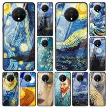 paintings Starry Night Van Gogh Tempered Glass Phone Case for