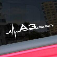2PCS 20*7CM Car Side Window Stickers Captivating Auto Window Decoration For Audi A3 8P