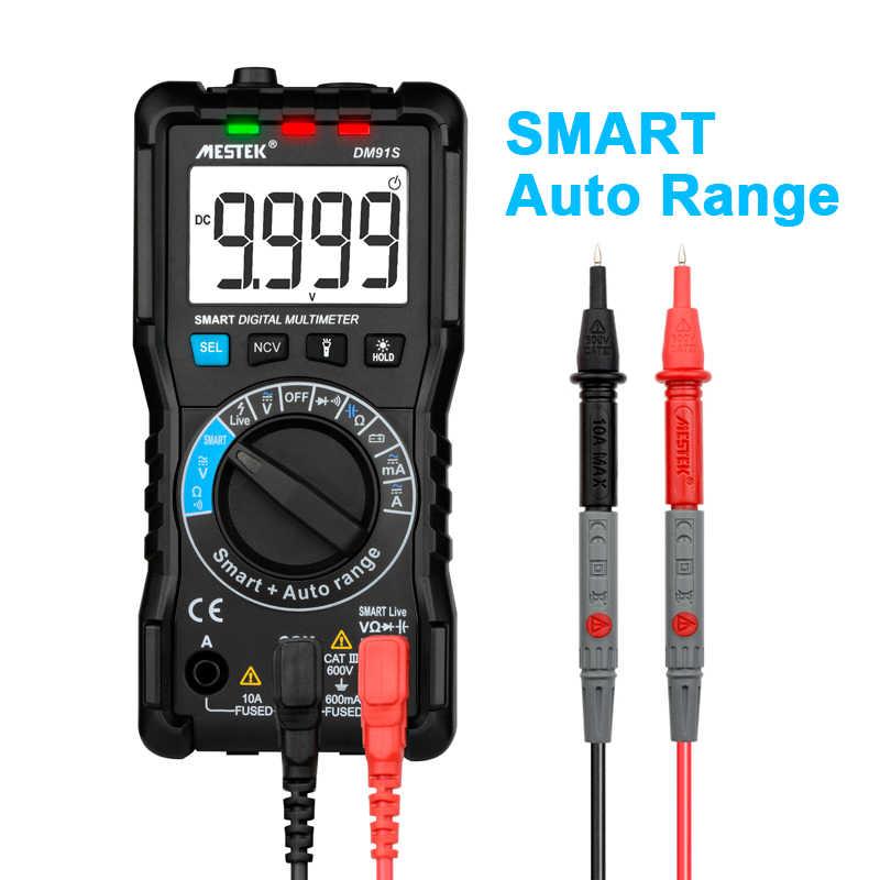 Mestek Intelligente Multimeter DM91A/DM91S Multimeter 9999 Telt Smart Auto Range Tester Multimetre Multi Meter Multitester