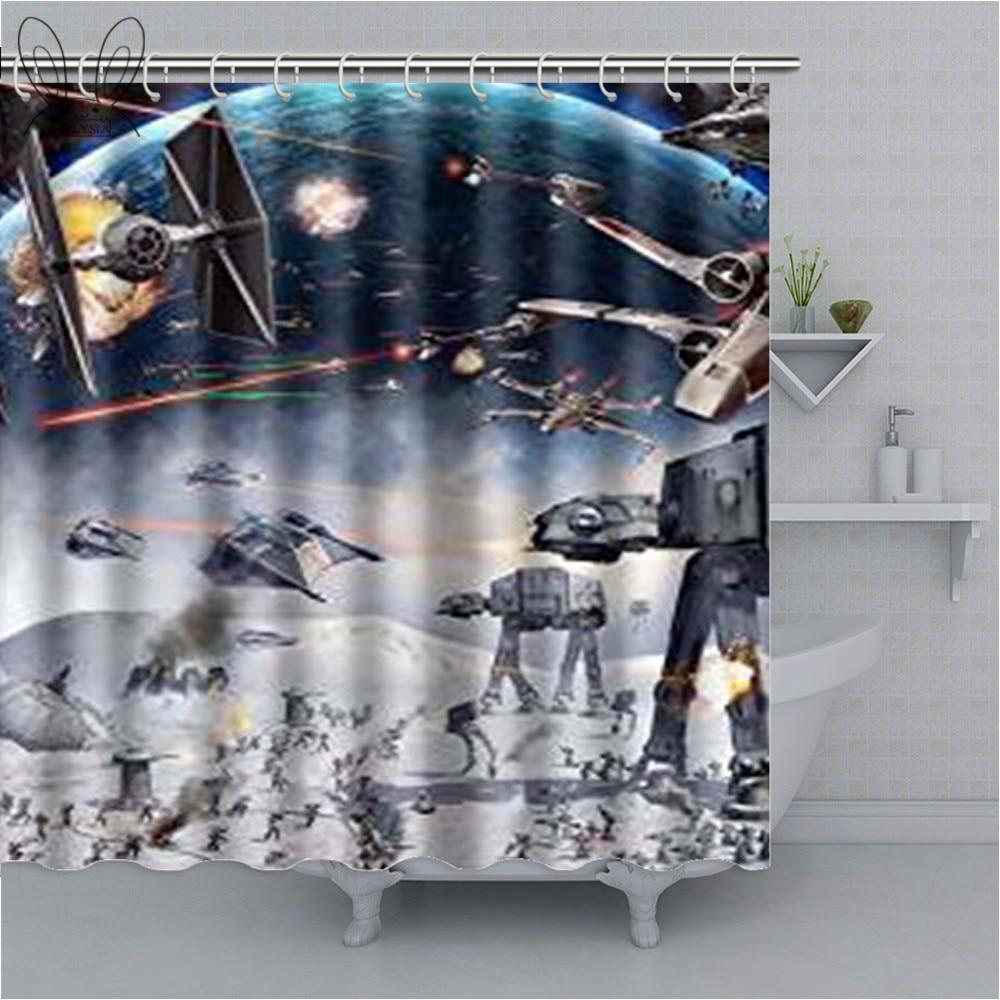 Модные Звездные войны, наука, война, занавески для ванной, космический корабль, водонепроницаемый полиэстер, для ванной, занавески для душа, для детей, Декор, комплекты для душа fashion shower curtain shower curtainshower curtain fashion   АлиЭкспресс