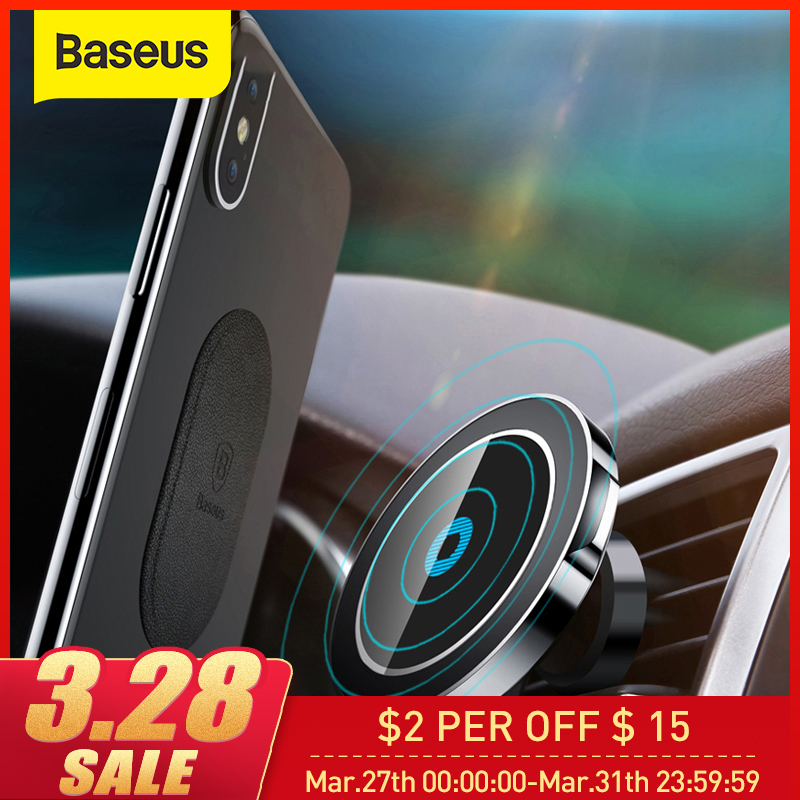Baseus Magnetic Wireless Car Charger Holder For IPhone X 8 8Plus Magnet Car Phone Holder Wireless Charger For Samsung S9 S8 S7