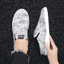 Heelless Canvas Slippers Male 2020 Summer New Korean Trend Students All-match One Pedal Lazy Half Slippers Mens Shoes Casual 2020 summer cool rhinestones slippers for male gold black loafers half slippers anti slip men casual shoes flats slippers wolf