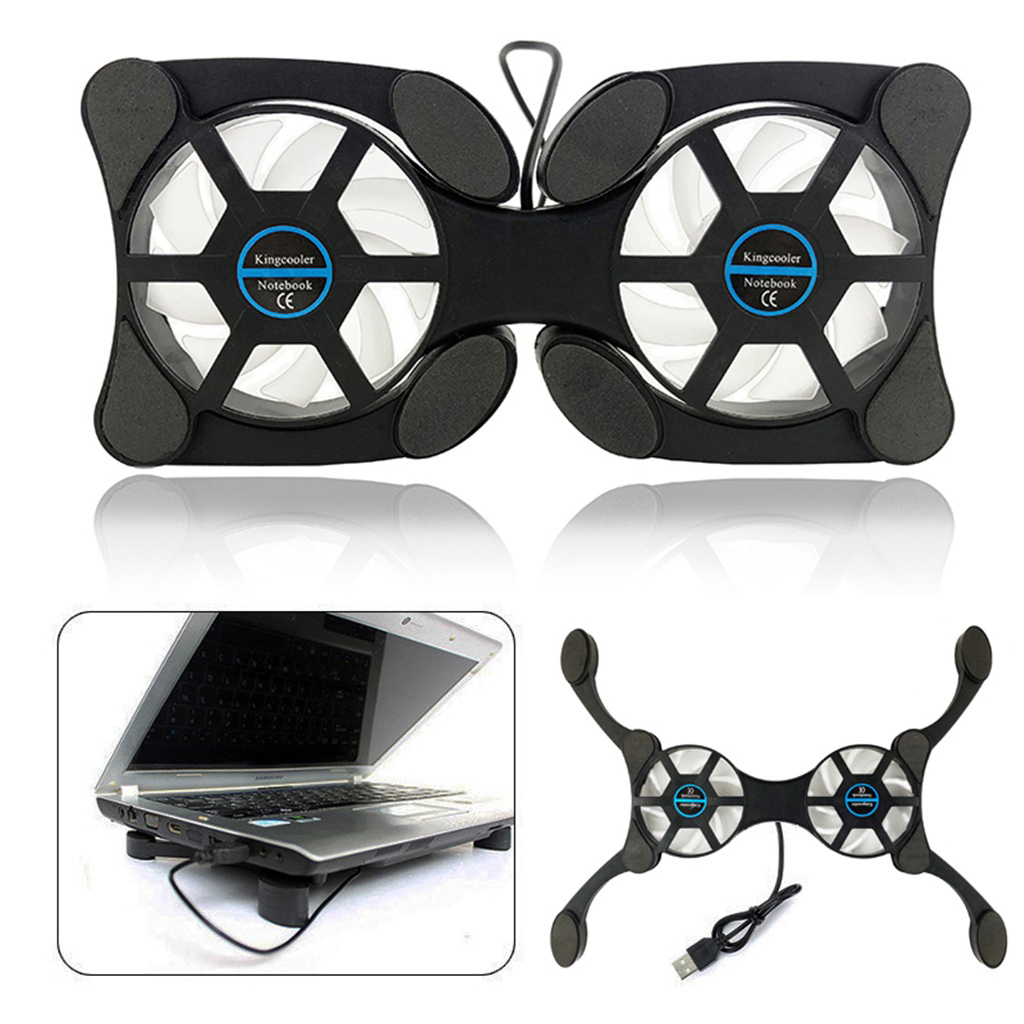 ACHICOO Foldable USB Laptop Cooling Pads with Double Fans Mini Octopus Notebook Cooler Cooling Pad for 7-15 Inch Notebook Laptop Electronic Phone Computer Products for Travel//Work