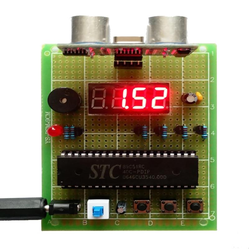 Ultrasonic Range Finder Based On 51 Single-chip Computer Graduation Design Electronic Kit Universal Board