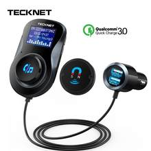 TeckNet 5V 3.4A Dual USB Car Charger Magnetic Air Vent with FM Bluetooth Handsfree FM Phone Charger in Car For Xiaomi iPhone(China)