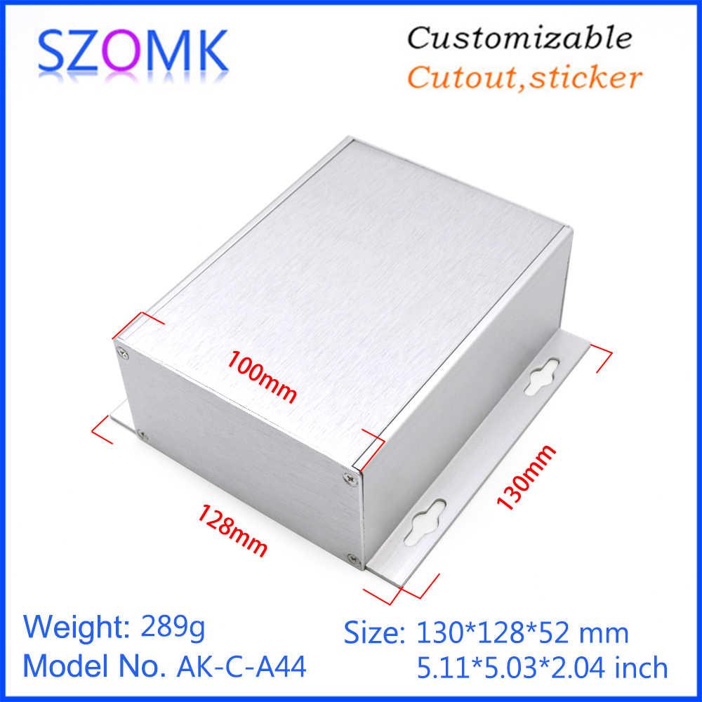 4 個 52*128*130 ミリメートル szomk アルマイトアルミニウムの筐体アンプ押出アルミ接合ハウジング