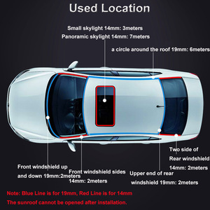 Car Roof Protector Seal Noise Insulation Car Door Weatherstrip Front Rear Windshield Edge Sealing Strips Sticker Car Accessories