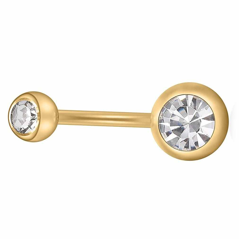 ייחודי זירקון פירסינג טבור כירורגי טבור טבעות טבור פירסינג טבור טבעת עבור נשים תכשיטים
