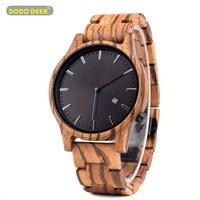 Dodo veados relógio de madeira relógio masculino masculino masculino masculino b09 quartzo movimento data relógio de pulso masculino oem dropship Relógios de quartzo    -