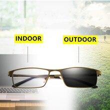 Высококачественные фотохромные очки для чтения из металлической смолы для мужчин и женщин, анти-голубые лучи, дальнозоркие очки, увеличительное стекло