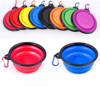 Dog Travel Silicone Bowl Portable Foldable Pet Cat Dog Food Water Feeding 3