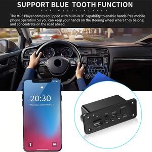 Image 4 - Kebidu 2*3W Amplifier DC 5V MP3 WMA Wireless Bluetooth 5.0 Decoder Board Audio Module USB FM TF Record Radio AUX input For Car