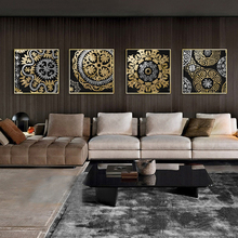 Gold Modern Nordic Abstract Geometric Pattern Lines Canvas Painting Picture Home Decor Wall Art Canvas Poster Print Living Room abstract canvas painting poster print wall art nordic green gold lines picture for living room bedroom decoration home decor