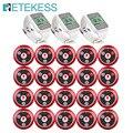 Retekess Беспроводная система вызова 3 шт TD108 часы приемник + 20 шт T117 передатчик кнопки Ресторан пейджер для обслуживания клиентов