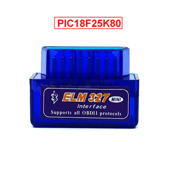 original v1 5 elm327 bluetooth adapter pic18f25k80 eml327 obd2 1 5 for android pc works with forscan elm 327 obd2 1 5 in russian Super MINI ELM327 Bluetooth V1.5 ELM 327 Version 1.5 With PIC18F25K80 Chip OBD2 OBDII for Android Torque Automotive Code Scanner