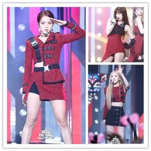 Kpop Blackpink Jennie Lisa Rose Stage Show Same Sexy Dress Ladies Skirt Shorts and Fashion Tshirt Tops Coat Women Two-piece Set(China)