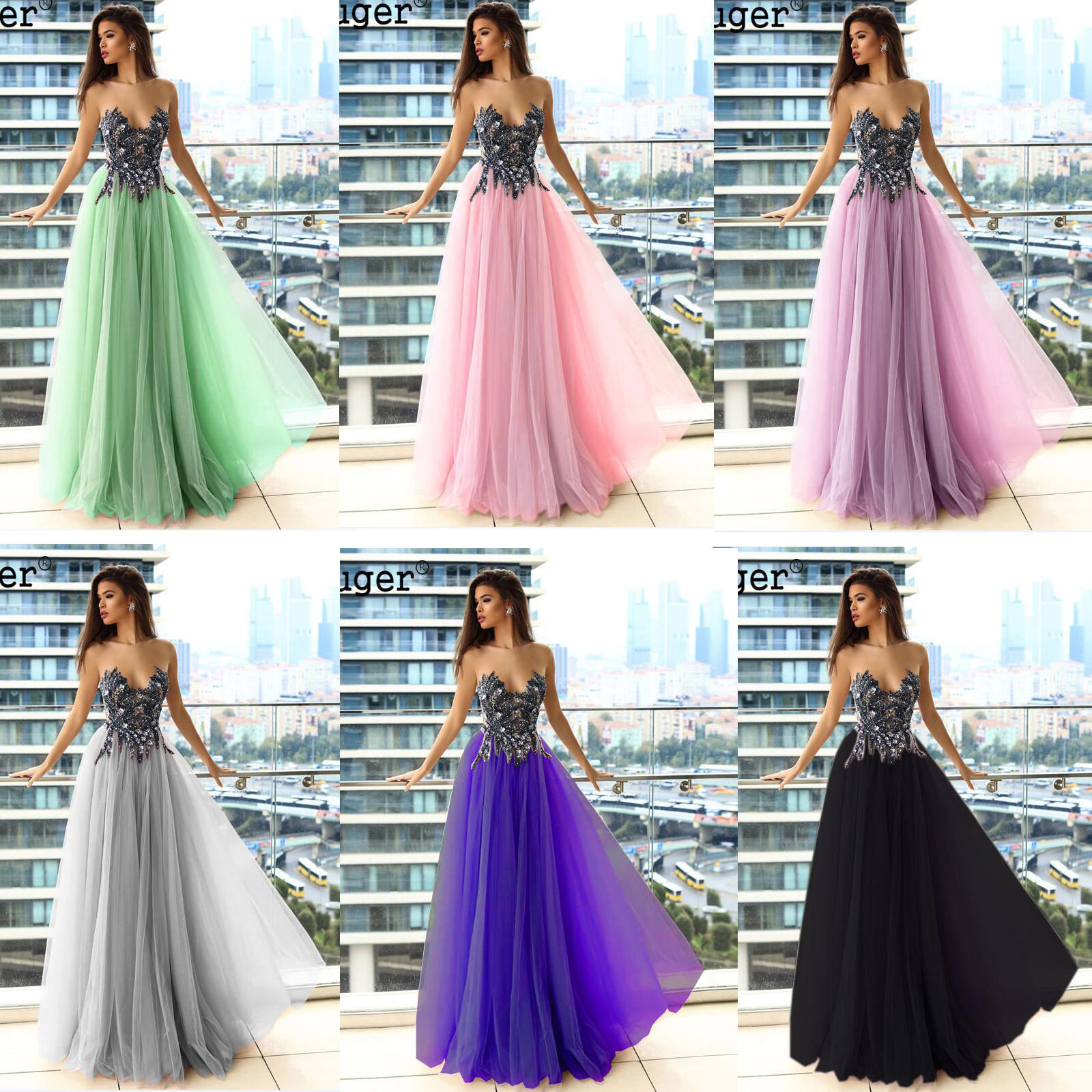 Lilac Button Illusion Back Beadings Pleat Evening Dress Prom Vestidos De Fiesta Formal Party Dress Arabic Special Occasion