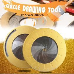 Precisão matemática medição régua redonda de aço inoxidável cozimento ajustável inspirador círculo desenho ferramenta festa papelaria rotativo