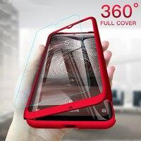 Funda de teléfono a prueba de golpes para Huawei Y6 Y5 Y7 Y9 Prime P Smart Z Pro 2018 2019 2017 con película de vidrio, cubierta de protección completa de 360 grados