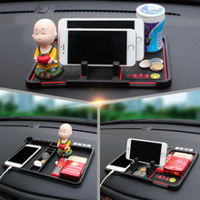 Multifunctional Car Non Slip Grip Pad Phone GPS Holder Mat Anti-skid Silicone Packing Number Mats Anti Slip Mat Car Accessories