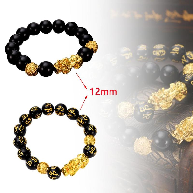 Brave Troops Beads PIXIU Bracelet for Women Men Beads Couple Bracelet Bring Lucky Brave Wealth Feng Shui Bracelets