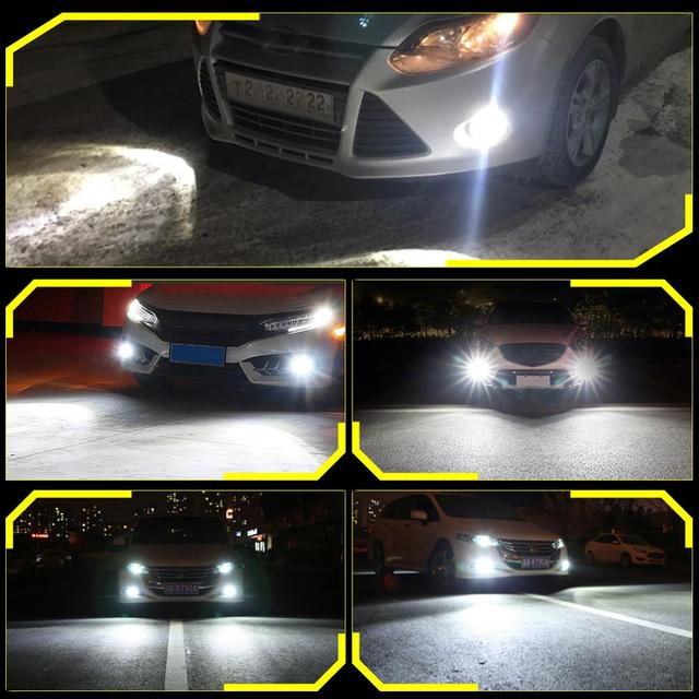 2 Pcs H11 H9 H8 Nebbia Luci 9005 HB3 9006 HB4 12V per Mazda 3 6 CX-5 323 5 CX5 Mitsubishi Outlander Asx Galant Ha Condotto La Lampada Auto Della Lampadina