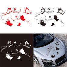 50 x 80CM PVC 3 Colors Butterflies Flying  Pattern Personality Car Body / Bumper Hood Scratch Sticker