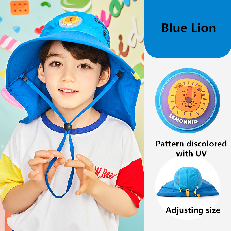 Kid Fashion Big Sun Hat Beach Hat Anti-UV Sun Protection Folding Cap Children Summer Hot Travel Hat Wide Brim Wide Beach Hat
