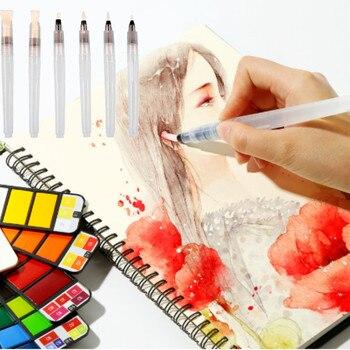 3pc Soft Paint Brush Water Color Brush Set Refillable Watercolor Brush Ink Pen For Beginner Painting Calligraph Drawing Art Tool
