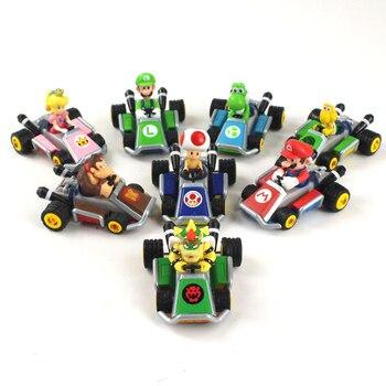 Conjunto de 8 unidades de Super Mario Kart para niños, Luigi, Koopa,...