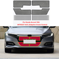 Car Middle Insect Screening Mesh Front Grille Insert Net Anti-mosquito Dust for Honda Accord 10th 2018 2019 2020 2021