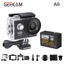 GEEKAM A9 Action Kamera 1080P 140D Volle HD 2 ''30 M Wasserdichten Outdoor-Mini Cam 1920*1080 gehen Sport Video pro Kamera(China)