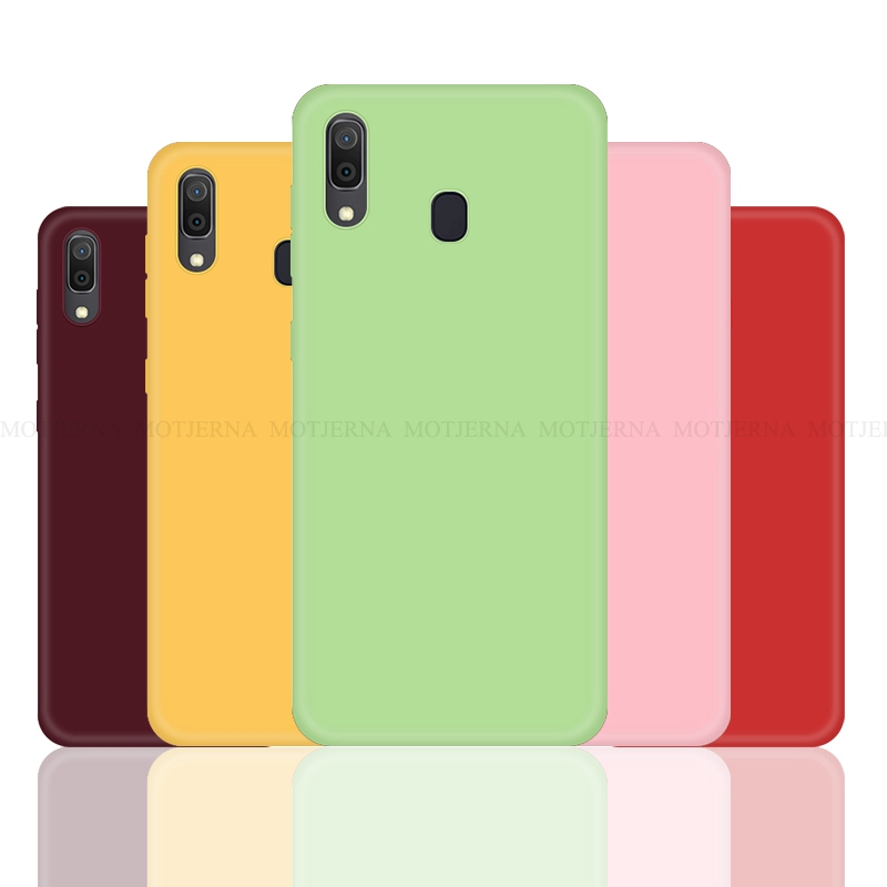 Solid Candy Color Silicone Cases For Samsung Galaxy A30 A50 A70 Soft TPU Case For Samsung Galaxy A10 A20 A40 A60 Cover Coque