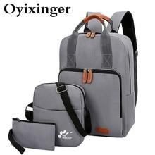 3 Pcs/set Young Student School Bag Boys Backpacks Waterproof USB Charging Backpack Schoolbag For Teenagers Girl Student Book Bag